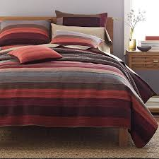 Weston Stripe Quilt | The Company Store & Weston Red Stripe Quilt / Sham Adamdwight.com