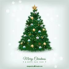 beautiful christmas tree. Contemporary Christmas Beautiful Christmas Tree In Realistic Style Free Vector Throughout Christmas Tree C