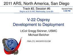 V 22 Osprey Development To Deployment Ppt Download