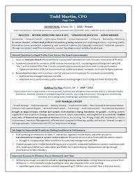 Cfo Resume Template Mesmerizing 48 Sample Cover Letter CFO Riez Sample Resumes Riez Sample
