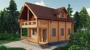 D005 — деревянный дом, проект Анна | Строительство дома из бруса, сруба
