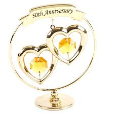 Crystocraft 50th Golden Wedding Anniversary Gold Ring With