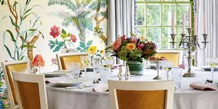 dining room furniture ideas. The Dining Room Now Bursts With High-octane Design, From Zuber Wallpaper To Furniture Ideas