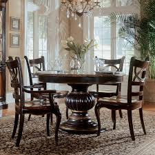Pedestal Dining Table Set Hooker Furniture Preston Ridge 7 Piece Pedestal Dining Set With