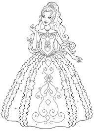 Disegno Di Barbie Principessa Da Stampare Gratis E Da Colorare