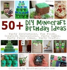 Diy Party Printables 50 Diy Minecraft Birthday Party Ideas About Family Crafts