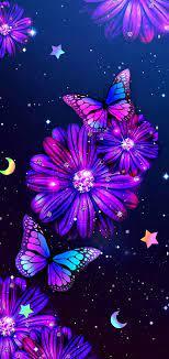 Purple butterfly wallpaper, Butterfly ...