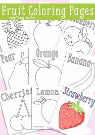 Fruit Coloring Pages Fruits Coloring Pages For Fruit Basket Sheet Of