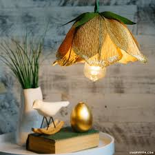 Paper Flower Lamp Make A Gorgeous Diy Flower Pendant Light With Crepe Paper