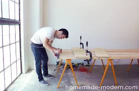 homemade modern diy ep64 conference table step 4