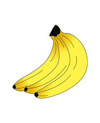 Small Picture Healthy Banana Coloring Pages for Kids to Color and Print