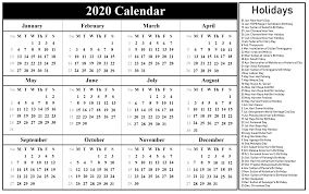 Printable Calendars 2020 With Holidays Malaysia Holidays Calendar 2020 Printable Calendar