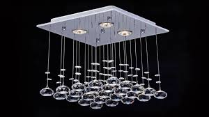 modern chandelier rain drop lighting crystal ball fixture pendant ceiling l
