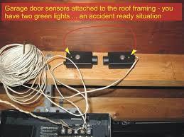 garage door sensors improperly installed 1