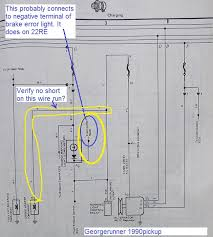 charge brake light on alternator ok yotatech forums thanks for the schematic jerry507 did you check where from combination meter wire encircled in blue and yellow below goes it connects to negative side