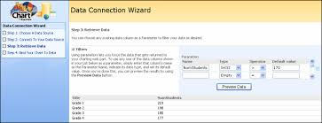 Sharepoint Chart Web Part Filter Using Parameters In The Data Connection Wizard