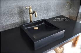 16 x16 black granite stone bathroom