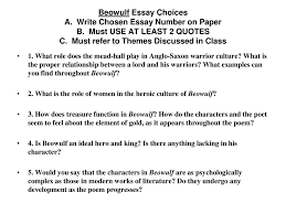 beowulf themes the importance of establishing an identity ppt  7 beowulf essay