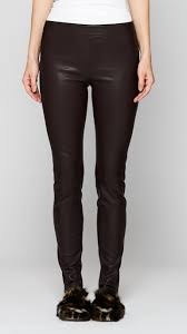 leather leggings in black loading zoom