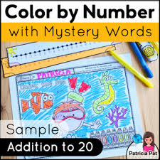 Christmas color by number multiplicationlooking for a fun and festive way for your students to practice their. Addition Math Center Coloring Page Free Color By Number Summer Tpt