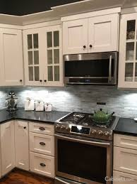 Kitchens With White Appliances And Oak Cabinets Stainless Steel