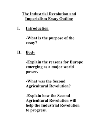 test review imperialism doc the industrial revolution and imperialism essay outline