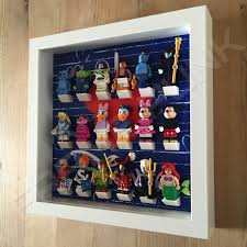 i love disney white frame lego display with minifigures side view