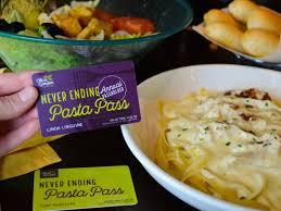 annual pasta pass pasta pass 1 olive garden s
