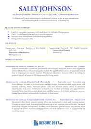 Professional Resume Samples 2018