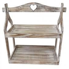 Rustic Display Stands Rustic Finish White Wash Painted Wood 41 Step Plant Display Stand 1