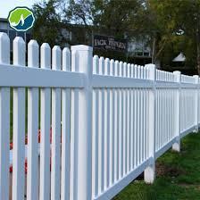 china white plastic garden fencing