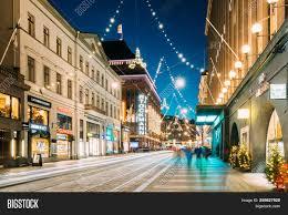 2016 Christmas Light Trade In Helsinki Finland Image Photo Free Trial Bigstock