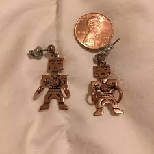 copper navajo man earrings