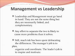 what is the difference between management and leadership page  70 jpg