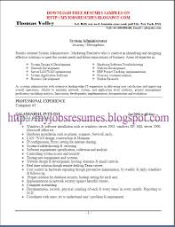 Free Resume samples for system administrator - Page No :01