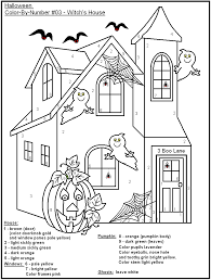 Small Picture Free Printable Halloween Color By Number PagesKids Coloring Pages