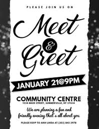 Meet And Greet Flyers Templates 1 120 Meet And Greet Customizable Design Templates