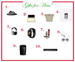 2017 holiday gift guide for him