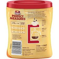 Folgers Coffee Chart Folgers Perfect Measures 100 Colombian Coffee