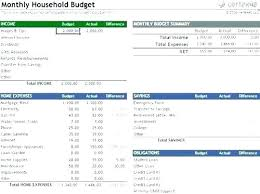Household Budget Form Household Budget Spreadsheet Template Sample Home Budget Template