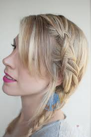 Braided Bangs Hairstyles Pigtail Braided Hairstyles With Side Bangs For Straight Hair