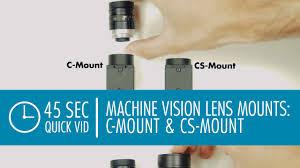 <b>C</b>-<b>Mount</b> & <b>CS</b>-<b>Mount Lenses</b>: Machine Vision Camera <b>Lens</b> Mounts ...