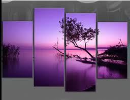 extra large purple toned lake scenic canvas wall art