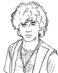 Small Picture Troys Best Friend in High School Musical Coloring Page Troys Best