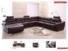 leather sectional living room furniture. Contemporary Sectional 2144 Sectional Right WRecliner In Leather Living Room Furniture M