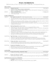 College Resumes Examples Great Resume Summary High School Resume ...