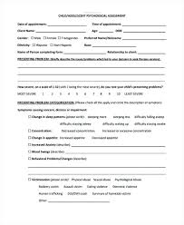 Psychosocial Assessment Template Amazing Health Assessment Form Example In Psychosocial Tool Template