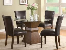 catchy glass round dining table and chairs or tall round glass dining table best gallery of tables furniture