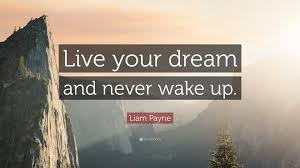 "Live Your Dreams Quotes Best of Liam Payne Quote ""Live Your Dream And Never Wake Up"" 24"