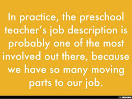 Preschool Teacher Job Description
